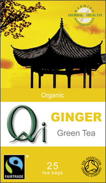Qi Green Tea with ginger
